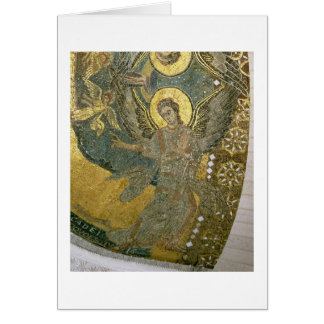 The Ark of the Covenant supported by Cherubim, fro Card