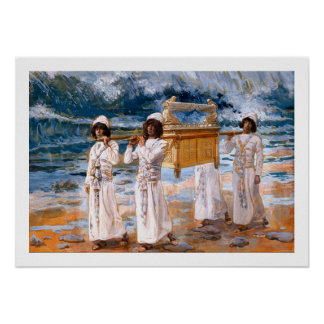 The Ark Passes Over the Jordan by James Tissot Poster