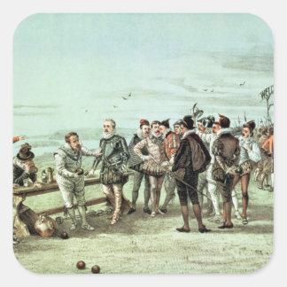 The Armada of 1888 in Sight Square Sticker