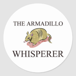 The Armadillo Whisperer Round Sticker