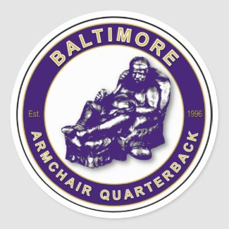 THE ARMCHAIR QB - Baltimore Stickers