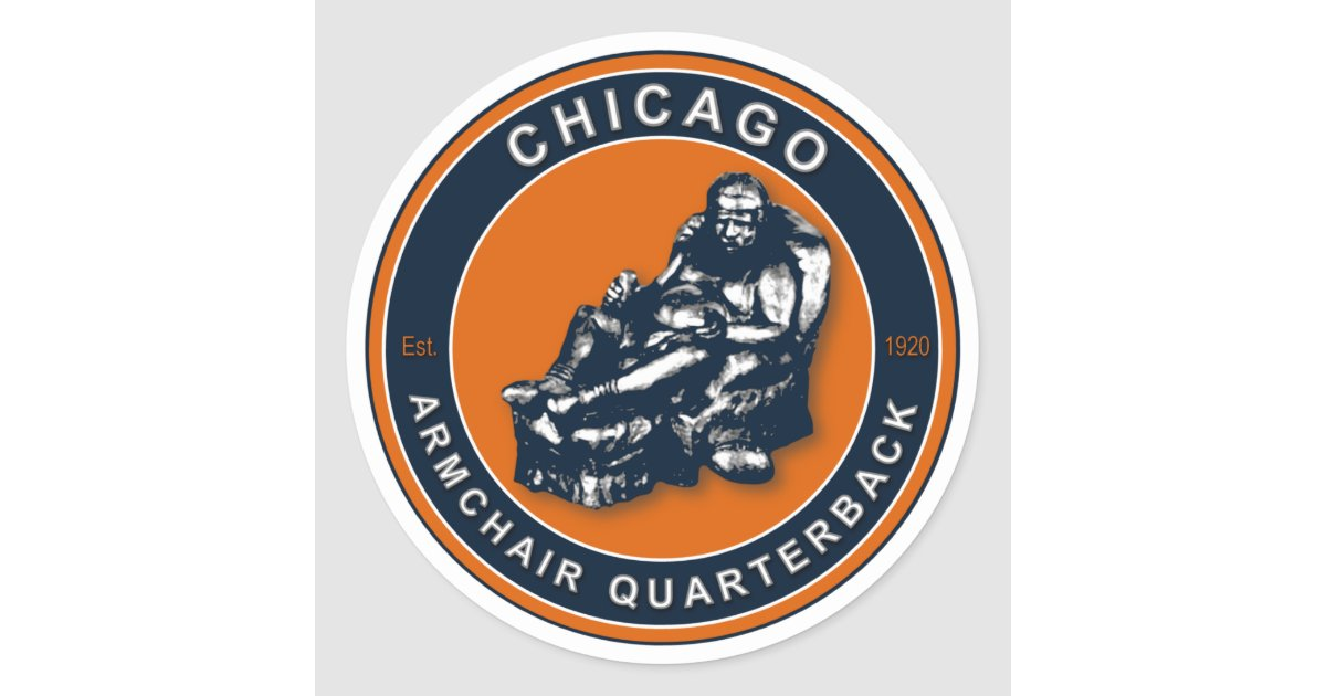 The Armchair Qb Chicago Classic Round Sticker Zazzle