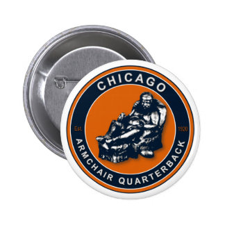 THE ARMCHAIR QB - Chicago Pinback Button