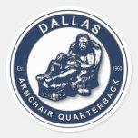 THE ARMCHAIR QB - Dallas Classic Round Sticker