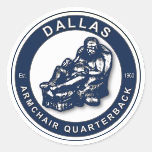 The Armchair Qb Dallas Classic Round Sticker Zazzle