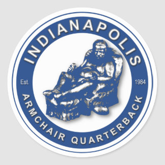 THE ARMCHAIR QB - Indianapolis Sticker