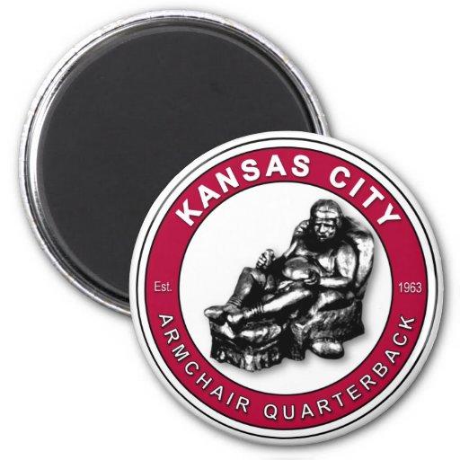 The Armchair Qb Kansas City 2 Inch Round Magnet Zazzle