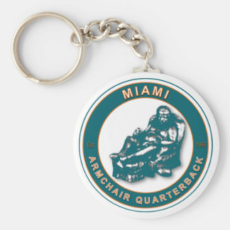 THE ARMCHAIR QB - Miami Basic Round Button Keychain