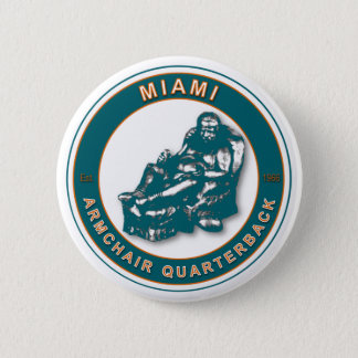 The Armchair QB Miami Football Button