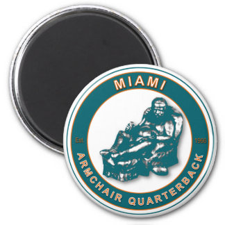 The Armchair QB Miami Football Magnet