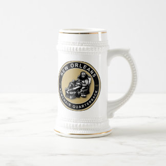 THE ARMCHAIR QB - New Orleans Beer Stein