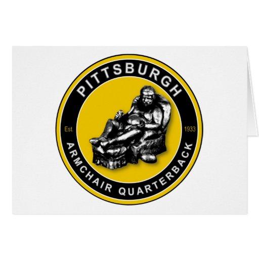 THE ARMCHAIR QB - Pittsburgh Greeting Card