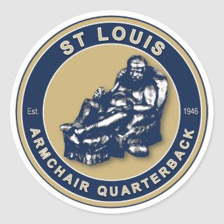 THE ARMCHAIR QB - Rams Classic Round Sticker