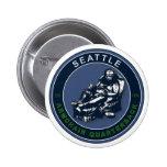 THE ARMCHAIR QB - Seattle 2 Inch Round Button
