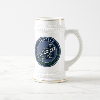 THE ARMCHAIR QB - Seattle Beer Stein