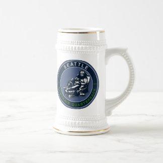 THE ARMCHAIR QB - Seattle Beer Stein