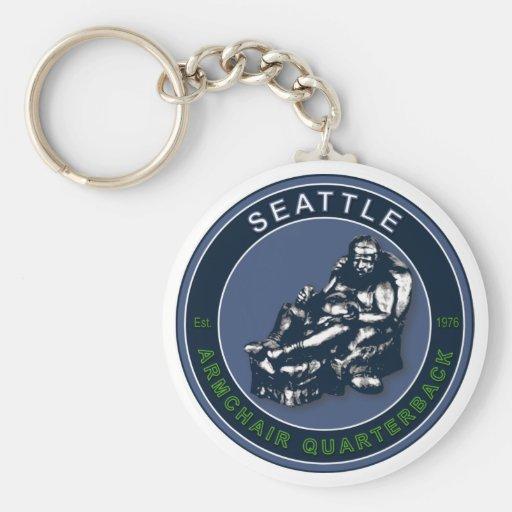 THE ARMCHAIR QB - Seattle Basic Round Button Keychain