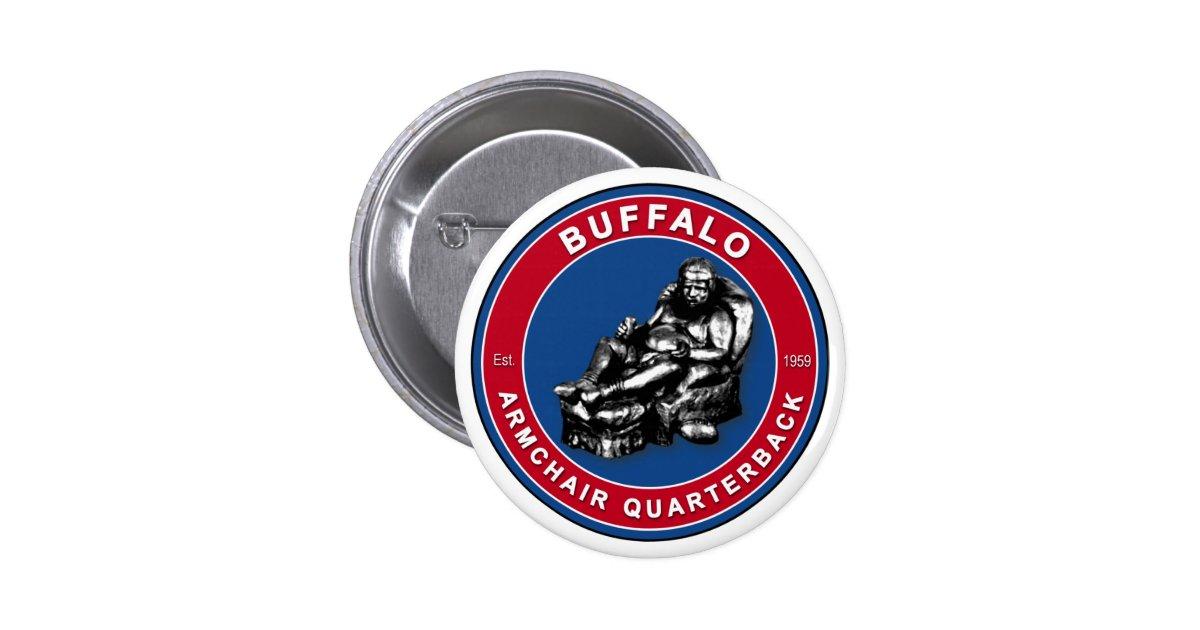 The Armchair Quarterback Buffalo Football Pins Zazzle