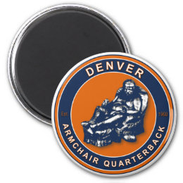 The Armchair Quarterback - Denver Football Magnet