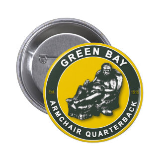 The Armchair Quarterback - Green Bay Football 2 Inch Round Button