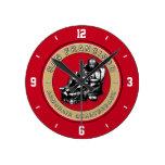 The Armchair Quarterback - San Francisco Football Round Wall Clocks