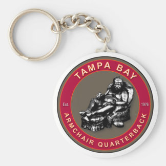 The Armchair Quarterback - Tampa Bay Football Keychain