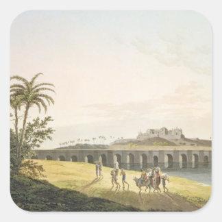 The Armenian Bridge, near St. Thomas's Mount, Madr Square Sticker