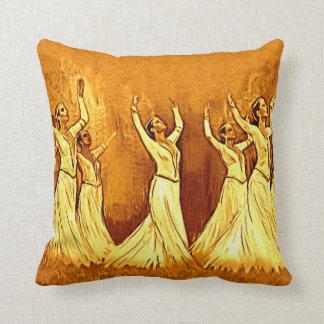 The Armenian dancers pillow1 Throw Pillow
