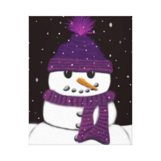 The Armless Snowman Canvas Print