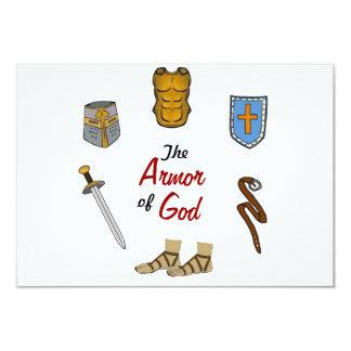 """The Armor of God 3.5"""" X 5"""" Invitation Card"""
