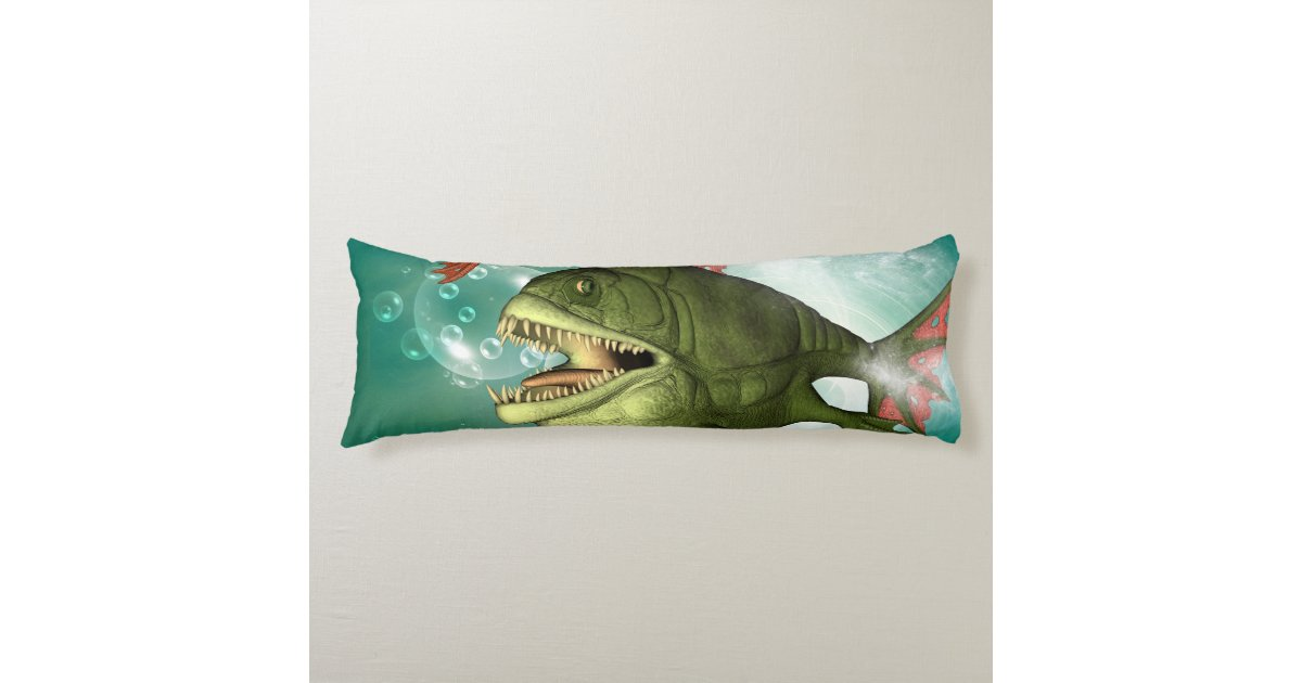 The Armour Fish With Bubbles Body Pillow Zazzle