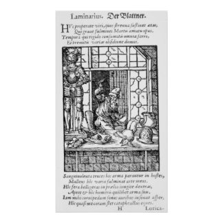 The Armour Maker, engraved by Hartman Schopper Poster