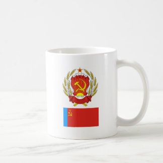 The arms and flag Russian Soviet Socialist Rep. Coffee Mug