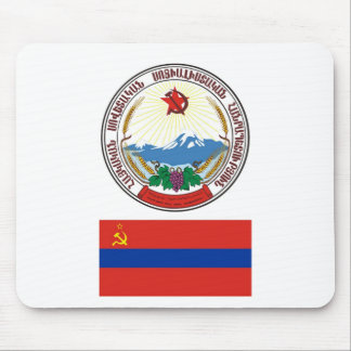 The arms and flag the Armenian Soviet Socialist Mouse Pad