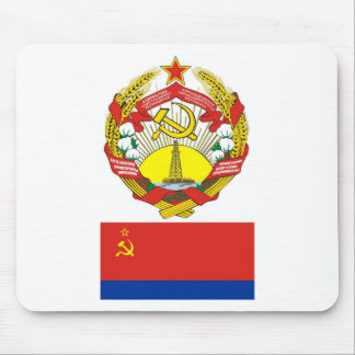 The arms and flag the Azerbaijan Soviet Socialist Mouse Pad