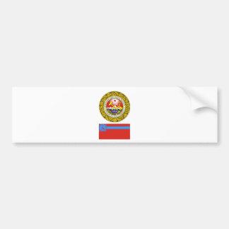 The arms and flag the Georgian Soviet Socialist R Bumper Sticker