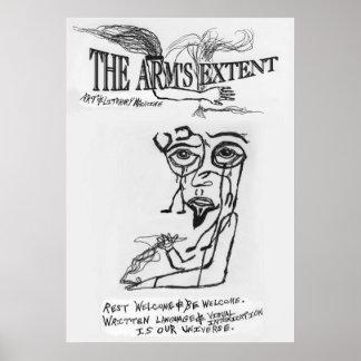 The Arm's Extent - 1996 Logo Surrealistic Poster