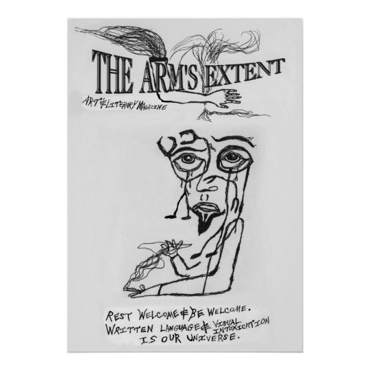 The Arm's Extent - 1996 Logo Surrealistic Poster