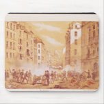 The Army Attacking a Barricade in Rue Mouse Pad