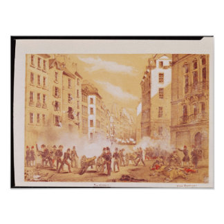 The Army Attacking a Barricade in Rue Posters