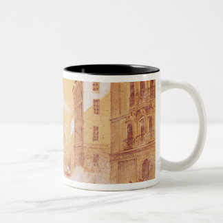 The Army Attacking a Barricade in Rue Two-Tone Coffee Mug