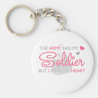 The Army Has My Soldier Basic Round Button Keychain