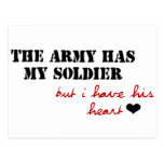 The Army has my Soldier, but I have his Heart Postcard