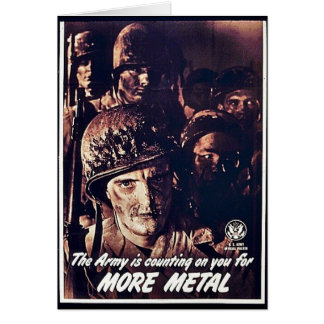 The Army Is Counting On You For More Metal Greeting Cards