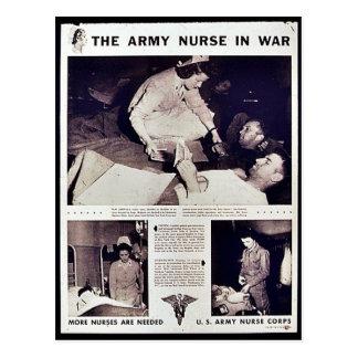 The Army Nurse In War Post Card