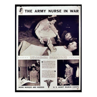 The Army Nurse In War Postcard