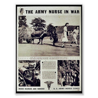 The Army Nurse In War Poster
