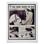 The Army Nurse In War Posters