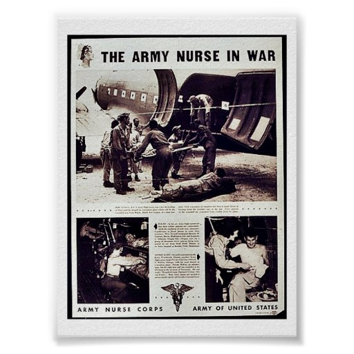 The Army Nurse In War Print