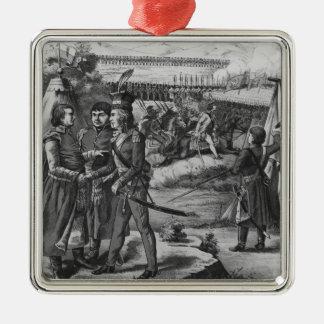 The army of Tadeusz Kosciuszko, 1794 Square Metal Christmas Ornament